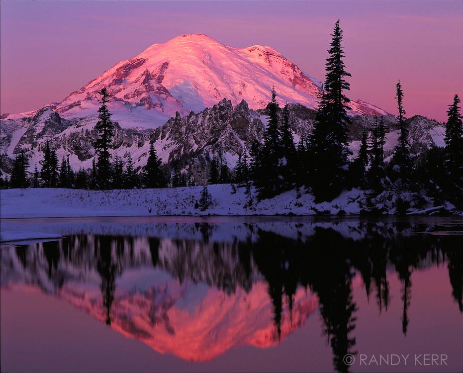 Mount Rainier snow sunrise