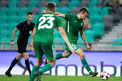 Dino Stiglec of NK Olimpija Ljubljana during 1st Leg football match between NK Olimpija Ljubljana and FC Crausaders in 2nd Qualifying Round of UEFA Europa League 2018/19, on July 26, 2018 in SRC Stozice, Ljubljana, Slovenia. Photo by Urban Urbanc / Sportida