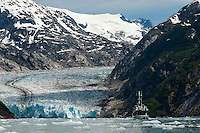 Dawes glacier at the end of Endicott Arm in Tracy Arm-Fords Terror Wilderness; Southeast Alaska
