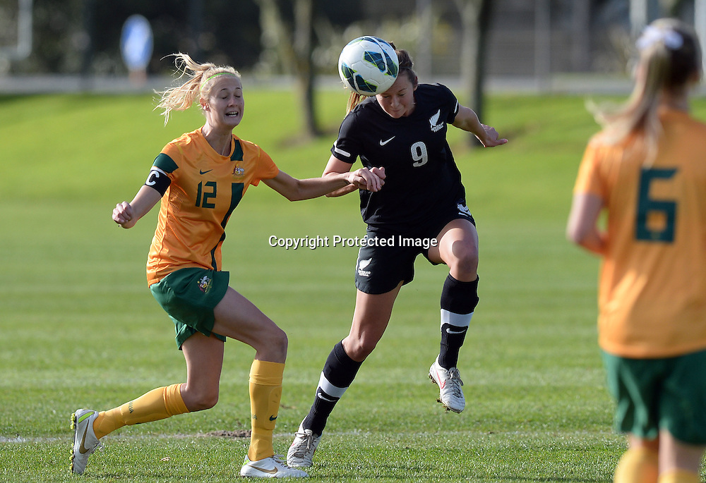 Emily Jensen. Junior Football Ferns v Young Matildas. Kristin School, Albany. Thursday 25 July 2013. Photo: Andrew Cornaga/Photosport.co.nz