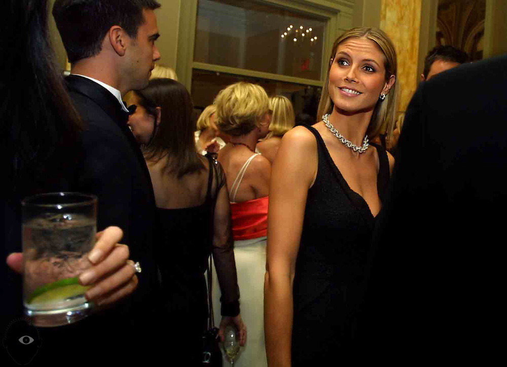 Supermodel Heidi Klum stops at The Governor Hotel for Babes & Baubles, a black-tie fundraiser  for OHSU. Klum is collaborating with world-renown jewelry designer Fred Mouawad with the creations to be sold at Zell's.