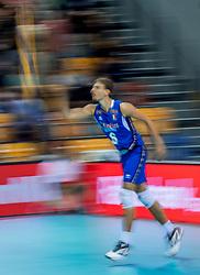 19-08-2017 NED: Oefeninterland Nederland - Italië, Apeldoorn<br /> De Nederlandse volleybal mannen spelen hun tweede oefeninterland van twee in Topsporthal De Voorwaarts tegen Italie als laatste voorbereiding op het EK in Polen / Simone Giannelli #6