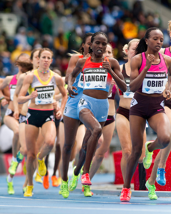 adidas Grand Prix Diamond League professional track & field meet: womens 1500 meters, Nancy Jebet LANGAT, Kenya