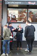 Fish and chips on Gresty Road during the EFL Sky Bet League 2 match between Crewe Alexandra and Lincoln City at Alexandra Stadium, Crewe, England on 26 December 2018.
