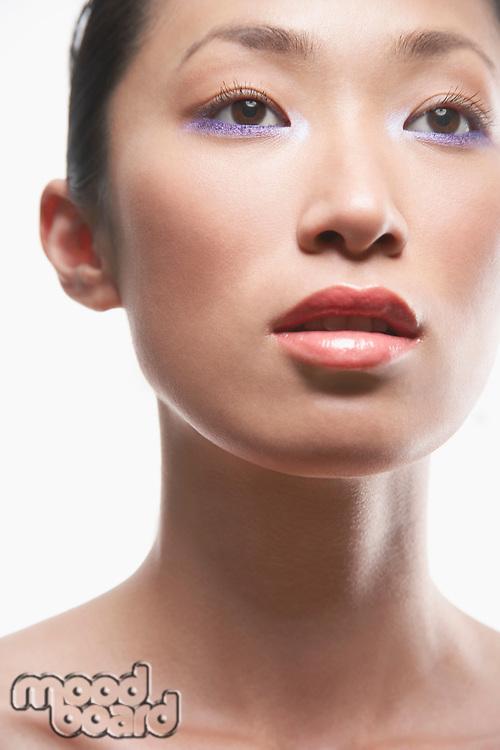 Young Asian woman face
