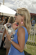 Holly Branson, Cartier International Polo. Guards Polo Club. Windsor Great Park. 30 July 2006. ONE TIME USE ONLY - DO NOT ARCHIVE  © Copyright Photograph by Dafydd Jones 66 Stockwell Park Rd. London SW9 0DA Tel 020 7733 0108 www.dafjones.com