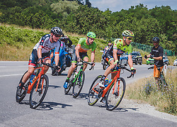 08.07.2019, Wiener Neustadt, AUT, Ö-Tour, Österreich Radrundfahrt, 2. Etappe, von Zwettl nach Wiener Neustadt (176,9 km), im Bild v.l. Felix Engelhardt (GER, Tirol KTM Cycling Team), Andreas Graf (AUT, Hrinkow Advarics Cycleang Team) Sebastian Schönberger (AUT, Neri Sottoli - Selle Italia - KTM) // f.l. Felix Engelhardt of Germany (Tirol KTM Cycling Team) Andreas Graf of Austria (Hrinkow Advarics Cycleang Team) Sebastian Schönberger of Austria (Neri Sottoli - Selle Italia - KTM) during 2nd stage from Zwettl to Wiener Neustadt (176,9 km) of the 2019 Tour of Austria. Wiener Neustadt, Austria on 2019/07/08. EXPA Pictures © 2019, PhotoCredit: EXPA/ Reinhard Eisenbauer