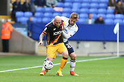 Bolton Wanderers James Henry puts Bradford City midfielder Nicky Law (4) under pressure during the EFL Sky Bet League 1 match between Bolton Wanderers and Bradford City at the Macron Stadium, Bolton, England on 24 September 2016. Photo by Simon Brady.