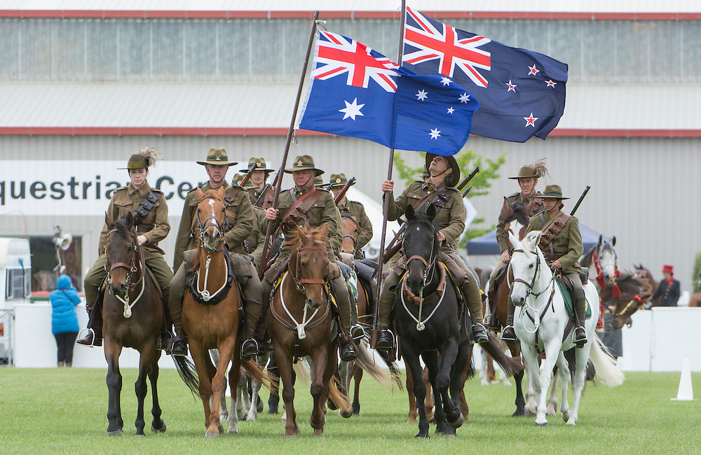 The Canterbury Mounted Rifles put on a display at the Canterbury A&P Show, Christchurch, New Zealand, November 11, 2015. Credit: SNPA /  David Alexander.