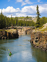 "Whitehorse, Yukon, is aptly referred to as 'The Wilderness City"". A moment of solitude can be easy to find at Miles Canyon."