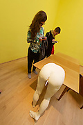 56th Art Biennale in Venice - All The World's Futures.<br /> Giardini.<br /> Great Britain pavilion. Sarah Lucas.
