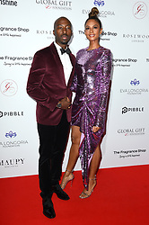 Azuka Ononye and Alesha Dixon attending the 9th Annual Global Gift Gala held at the Rosewood Hotel, London. Picture date: Friday November 2nd 2018. Photo credit should read: Matt Crossick/ EMPICS Entertainment.