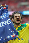 Bradley Johnson after the Sky Bet Championship Play Off Final match between Middlesbrough and Norwich City at Wembley Stadium, London, England on 25 May 2015. Photo by Simon Davies.