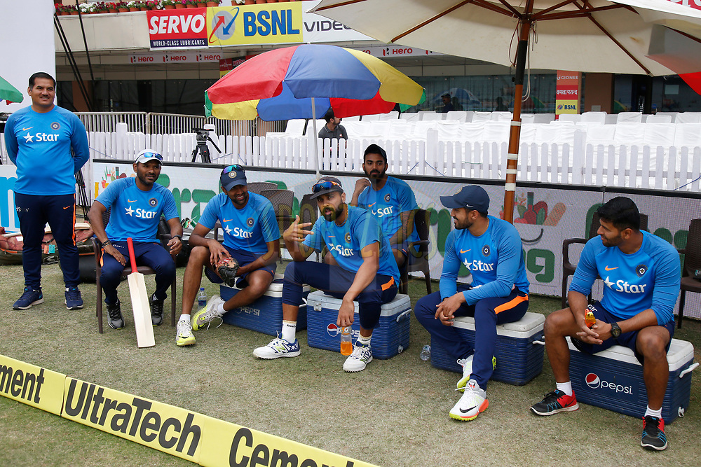 Team India Players during day four of the third test match between India and Australia held at the JSCA International Stadium Complex in Ranchi on the 19th March 2017. <br /> <br /> Photo by: Deepak Malik / BCCI/ SPORTZPICS