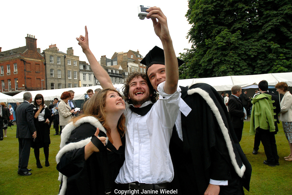 Graduating Students at Cambridge University Graduation Day 2007.