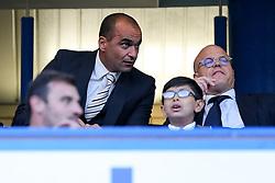 Belgium Manager Roberto Martinez takes his seat - Rogan Thomson/JMP - 15/08/2016 - FOOTBALL - Stamford Bridge Stadium - London, England - Chelsea v West Ham United - Premier League Opening Weekend.