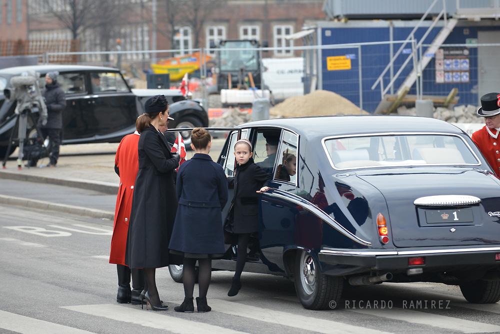 20.02.2018. Copenhagen, Denmark. <br /> Princess Josephine's arrival to Christiansborg Palace Church. <br /> Photo: Ricardo Ramirez.