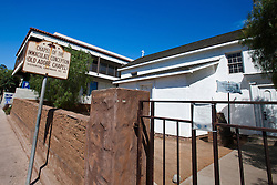 Exterior of the Chapel of the Immaculate Conception (Old Adobe Chapel), Old Town San Diego, California, United States of America