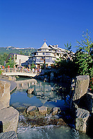 Whistler Village, the Village park stream that runs near the Town Plaza, in summer.