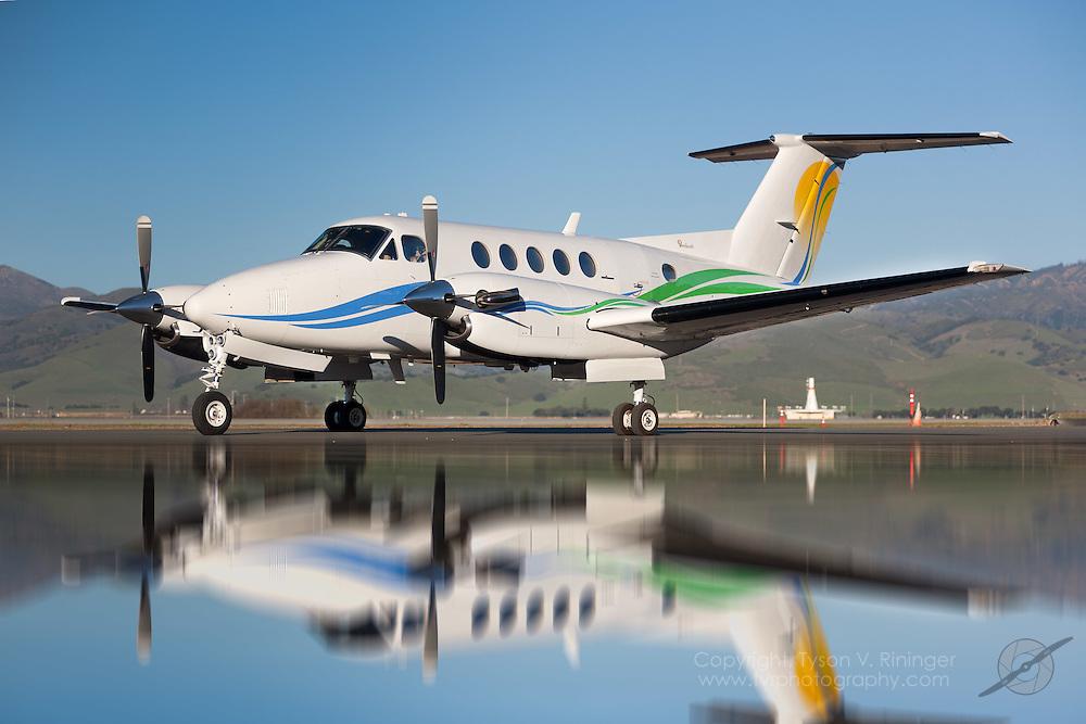 Aircraft brokerage shoot of Beechcraft King Air 200, N127TA.