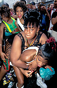 Group of girls dancing, Notting Hill Carnival, UK, 1997