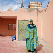 Khadijato Maulod was arrested by Moroccan forces when she was 14 years old. She spent 9 months in a secret prison where she received electrical shocks in her ears and was brutally beaten by police. Her daughter of seven months died while she was in prison. She was arrested again in 1991 for a month because they believed she kept Saharawi cassettes in her home, which they had forbidden since the occupation