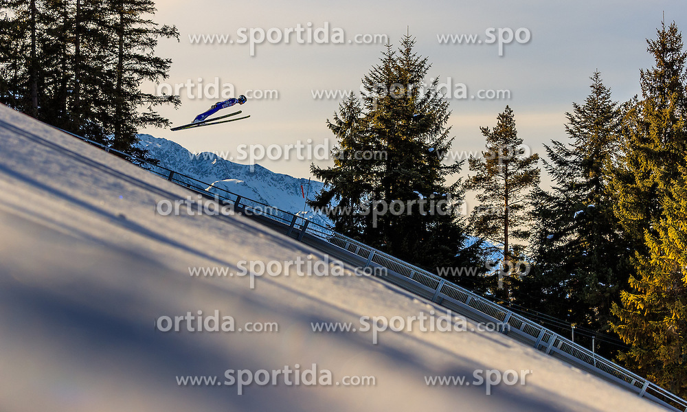 28.01.2017, Casino Arena, Seefeld, AUT, FIS Weltcup Nordische Kombination, Seefeld Triple, Skisprung, im Bild Akito Watabe (JPN) // Akito Watabe of Japan in action during his Trail Jump of Skijumping of the FIS Nordic Combined World Cup Seefeld Triple at the Casino Arena in Seefeld, Austria on 2017/01/28. EXPA Pictures © 2017, PhotoCredit: EXPA/ JFK