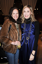 Left to right, BETTINA VON HASE and ALLEGRA HICKS at a lecture in aid of The Lavender Trust hosted by Asprey, Bond Street, London on 27th January 2010.