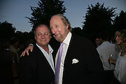 Anthony Holden and Ed Victor, Launch of Tina Brown's book 'The Diana Chronicles' hosted by Reuters. Serpentine Gallery. 18 June 2007.  -DO NOT ARCHIVE-© Copyright Photograph by Dafydd Jones. 248 Clapham Rd. London SW9 0PZ. Tel 0207 820 0771. www.dafjones.com.