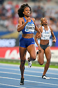 Phyllis Francis (USA) places fourth in the women's 400m in 51.56; during the Meeting de Paris, Saturday, Aug. 24, 2019, in Paris. (Jiro Mochizuki/Image of Sport via AP)