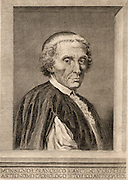 Francesco Bianchini (1662-1729) Italian astronomer.  Established an observatory at Albano and  worked on the reform of the calendar at commission of Pope Clement X1.  Copperplate engraving.