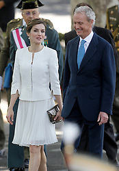 06.06.2015, Plaza de la Lealtad, Madrid, ESP, Armed Forces Day Ceremony 2015, im Bild Queen Letizia of Spain with Pedro de Morenes, Minister of Defense of the Government of Spain // during the Armed Forces Day Ceremony 2015 at the Plaza de la Lealtad in Madrid, Spain on 2015/06/06. EXPA Pictures © 2015, PhotoCredit: EXPA/ Alterphotos/ Acero<br /> <br /> *****ATTENTION - OUT of ESP, SUI*****