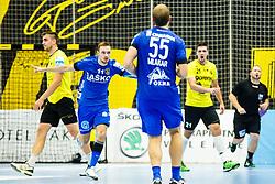 Marguc Gal #11 of RK Celje Pivovarna Lasko during handball match between RK Gorenje Velenje and RK Celje Pivovarna Lasko in SEHA league, Round 1, on 30th of August , 2017 in Rdeca Dvorana, Velenje, Slovenia. Photo by Grega Valancic/ Sportida