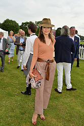 ASTRID NOVILLO ASTRADA at the Cartier Queen's Cup Final 2016 held at Guards Polo Club, Smiths Lawn, Windsor Great Park, Egham, Surry on 11th June 2016.