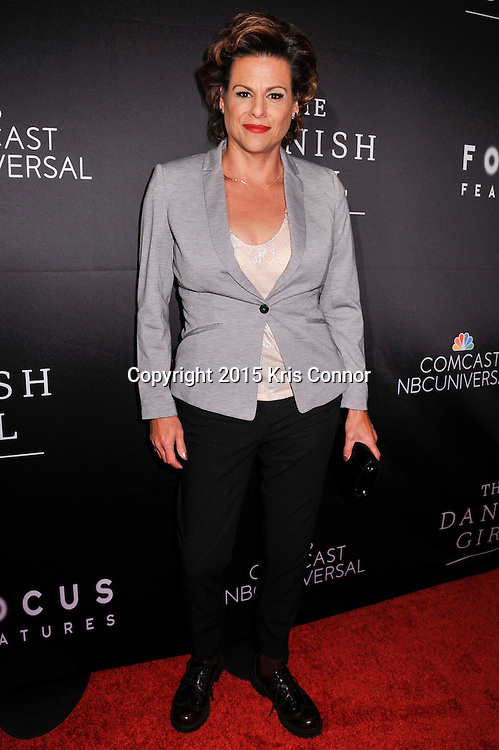 "Alexandra Billings, actress, Transparent, attends the DC premiere of Focus Features' ""THE DANISH GIRL"" at the United States Navy Memorial in Washington DC on November 23, 2015.  (Photo by Kris Connor for Focus Features)"