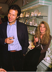 IMRAN KHAN and his wife JEMIMA KHAN she is the daughter of the late Sir James Goldsmith, at a party in London on 13th October 1998.MKT 86