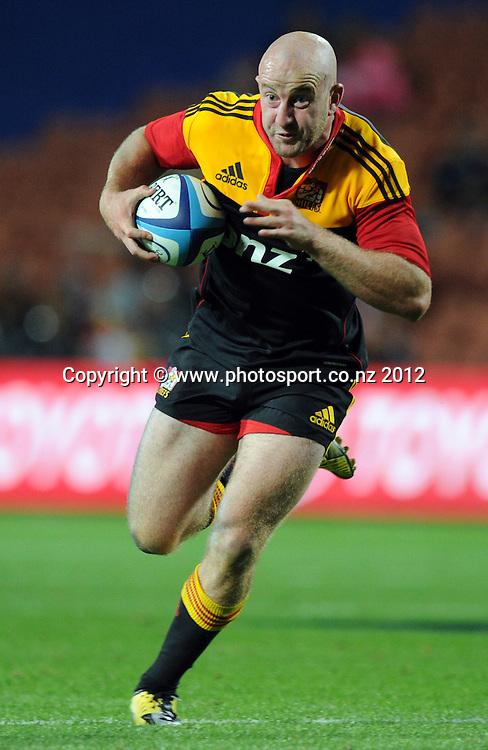 Brendon Leonard during the 2012 Super Rugby season, Chiefs v Highlanders match at Waikato Stadium, New Zealand. Saturday 25 February 2012. Photo: Andrew Cornaga/Photosport.co.nz