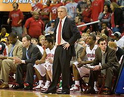 Maryland head coach Gary Williams.  The Maryland Terrapins defeated the Virginia Cavaliers men's basketball team 85-75 at the Comcast Arena in College Park, MD on January 30, 2008.