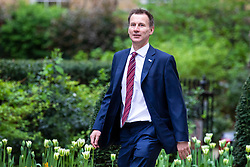© Licensed to London News Pictures. 24/04/2018. London, UK. Secretary of State for Health and Social Care Jeremy Hunt on Downing Street for the weekly Cabinet meeting. Photo credit: Rob Pinney/LNP