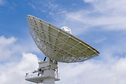 Telecommunications dish antenna used for transferring telephone calls and signals over satellite.