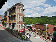 Stock photography of the stores in Eureka Springs in Eureka Springs, Arkansas.