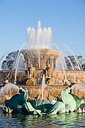 Buckingham fountain in Grant Park Chicago, IL, USA.