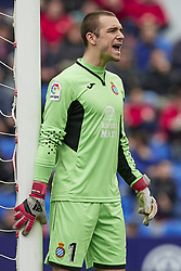March 4, 2018 - Valencia, Valencia, Spain - Pau Lopez of RCD Espanyol reacts during the La Liga match between Levante UD and RCD Espanyol at Ciutat de Valencia on March 4, 2018 in Valencia, Spain  (Credit Image: © David Aliaga/NurPhoto via ZUMA Press)