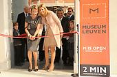 Opening Museum M in belgie door Maxima en Mathilde