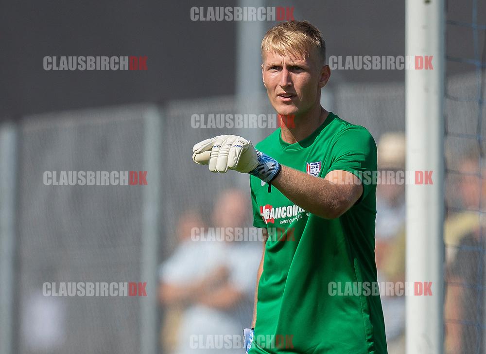 Frederik Mehder (Skovshoved IF) under kampen i 2. Division mellem Skovshoved IF og FC Helsingør den 3. august 2019 i Skovshoved Idrætspark (Foto: Claus Birch)