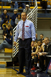Jan 14, 2012; Berkeley CA, USA; Utah Utes head coach Larry Krystkowiak on the sidelines against the California Golden Bears during the second half at Haas Pavilion. California defeated Utah 81-45. Mandatory Credit: Jason O. Watson-US PRESSWIRE