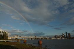 Rainbow after early summer thunderstorm, Friday, June 22, 2018  at Louisville Skyline Overlook in Clarksville.