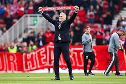 Former Middlesbrough coach Leo Percovich enters the pitch and receives a standing ovation - Mandatory by-line: Robbie Stephenson/JMP - 12/05/2018 - FOOTBALL - Riverside Stadium - Middlesbrough, England - Middlesbrough v Aston Villa - Sky Bet Championship