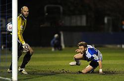 Bristol Rovers' Matty Taylor scores Bristol Rovers third goal - Photo mandatory by-line: Neil Brookman/JMP - Mobile: 07966 386802 - 20/03/2015 - SPORT - Football - England - Memorial Stadium - Bristol Rovers v Aldershot - Vanarama Football Conference