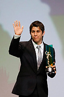 "20091207: RIO DE JANEIRO, BRAZIL - Brazilian Football Awards 2009 (""Craque Brasileirao 2009""), held at the Museum of Modern Art in Rio de Janeiro. In picture: Dario Conca (Fluminense) - best voted player by fans. PHOTO: CITYFILES"